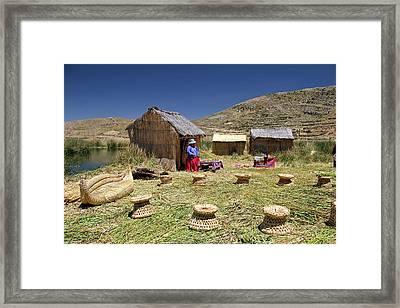 South America, Bolivia, Lake Titicaca Framed Print