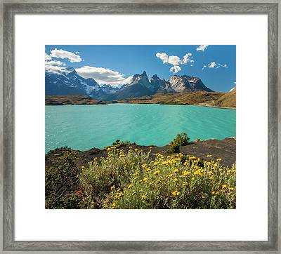South America, Chile, Patagonia, Torres Framed Print by Jaynes Gallery