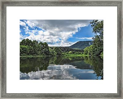 South Fork Shenandoah River Framed Print by Lara Ellis