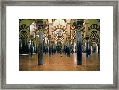 Spain. Cordoba. Mezquita Mosque Framed Print