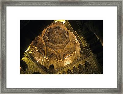 Spain. Cordoba. Mezquita Mosque. Mosque Framed Print