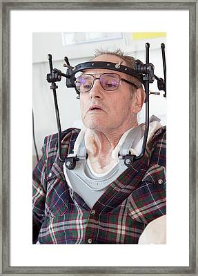 Spinal Injury Patient Framed Print by Life In View