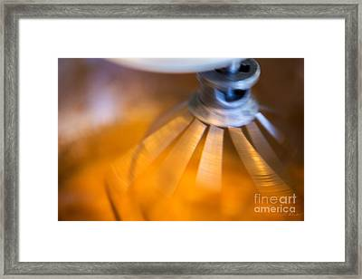 Spinning Mixer Framed Print by Iris Richardson