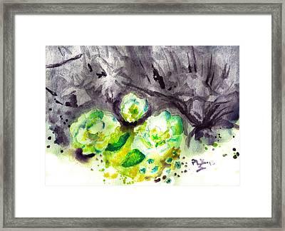 Spring Monochrome Framed Print by Peg Holmes