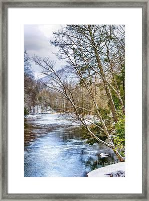 Spring Snow Williams River  Framed Print by Thomas R Fletcher