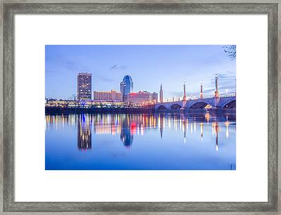 Springfield Massachusetts City Skyline Early Morning Framed Print