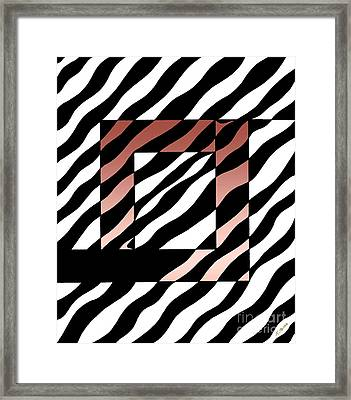 Framed Print featuring the drawing 3 Squares With Ripples by Joseph J Stevens