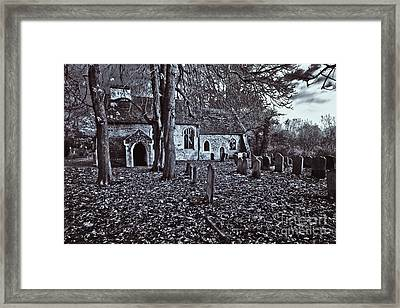 St Margaret Of Antiochs Church Linstead Framed Print by Darren Burroughs