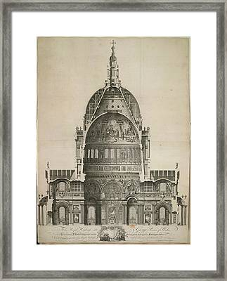 St. Paul's Cathedral Framed Print by British Library