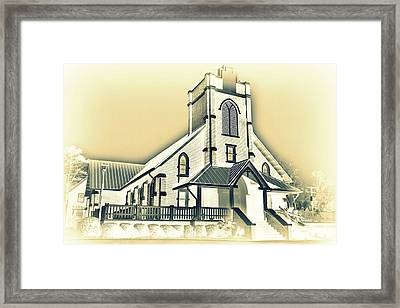 St Peter Lutheran Church Chapin Sc Hdr 5 Framed Print by Lisa Wooten
