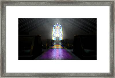 Stained Glass Window Church Framed Print
