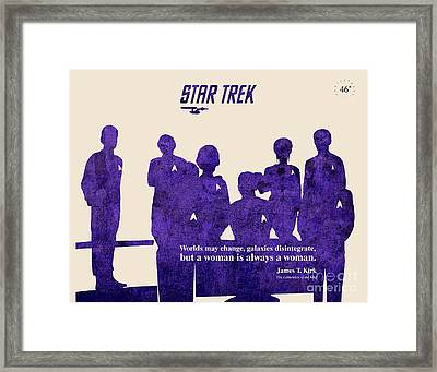 Star Trek Original - Captain Kirk Quote Framed Print by Pablo Franchi