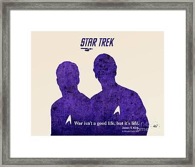 Star Trek Original Kirk Quote Framed Print by Pablo Franchi