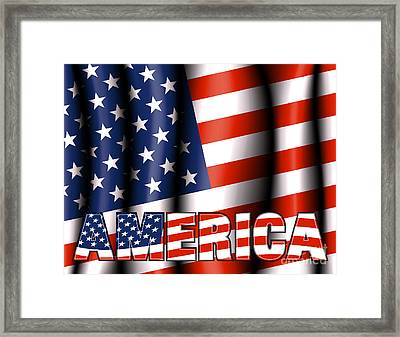 Stars And Stripes Framed Print by Fenton Wylam