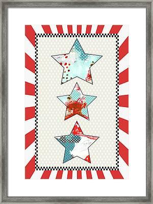 3 Stars Framed Print by Sarah Ogren