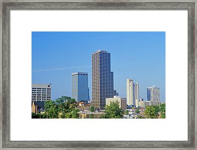 State Capital And Skyline In Little Framed Print