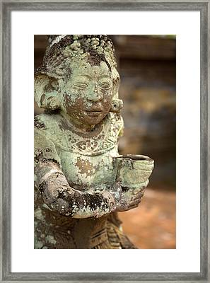 Framed Print featuring the photograph Statue - Bali by Matthew Onheiber