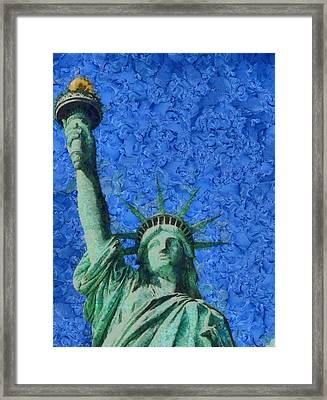 Statue Of Liberty Framed Print by Dan Sproul