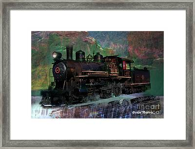 Steam Locomotive Framed Print by Gunter Nezhoda