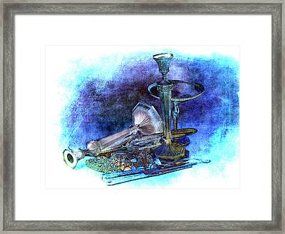 Sterling Silver Scrap Framed Print by Gunter Nezhoda