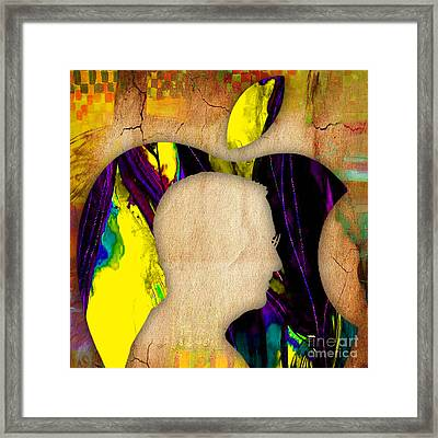 Steve Jobs Painting Framed Print by Marvin Blaine