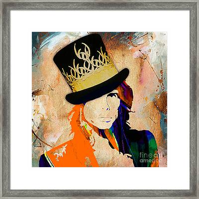 Steven Tyler Collection Framed Print by Marvin Blaine