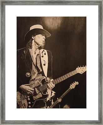 Stevie Ray Vaughan 1984 Framed Print