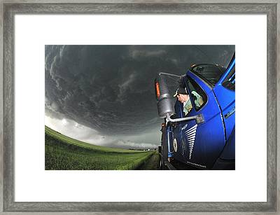 Storm Chasing, Nebraska, Usa Framed Print by Science Photo Library