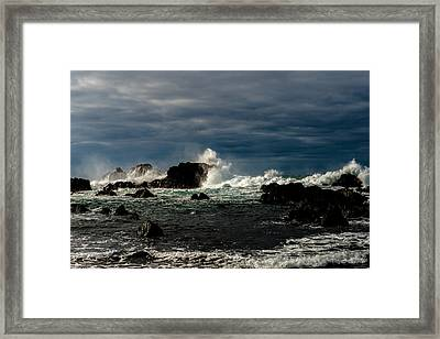 Stormy Seas And Skies  Framed Print