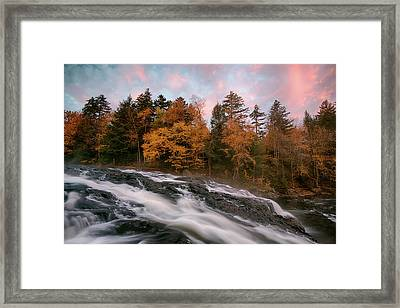 Stream Flowing Through Rocks Framed Print
