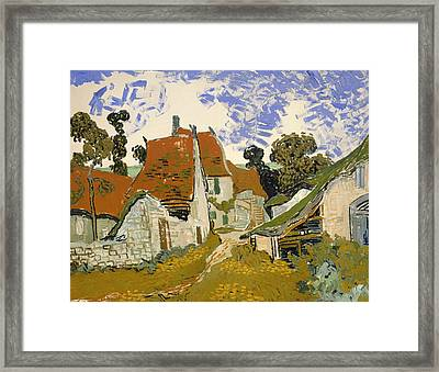 Street In Auvers-sur-oise Framed Print by Mountain Dreams