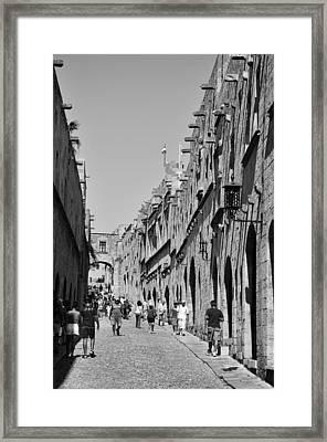 Street Of Knights Framed Print by George Atsametakis