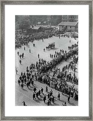 Streetcar Strike, 1916 Framed Print