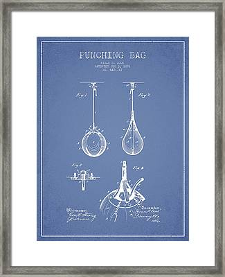Striking Bag Patent Drawing From1891 Framed Print by Aged Pixel