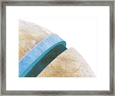 Structure Of Europa, Artwork Framed Print by Gary Hincks