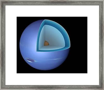 Structure Of Neptune Framed Print
