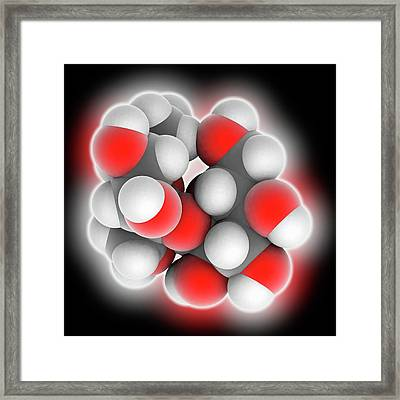 Sucrose Molecule Framed Print
