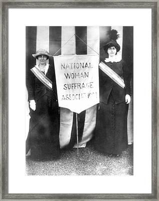 Suffragettes, 1913 Framed Print