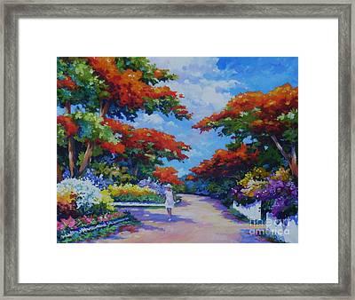 Summer In Savannah Framed Print by John Clark