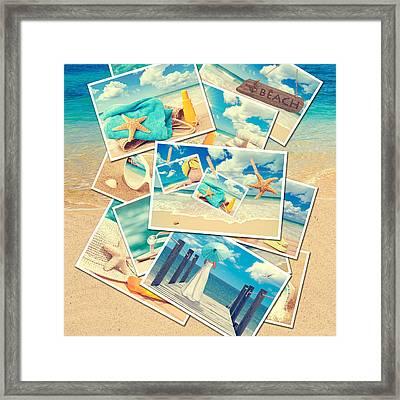 Summer Postcards Framed Print by Amanda Elwell
