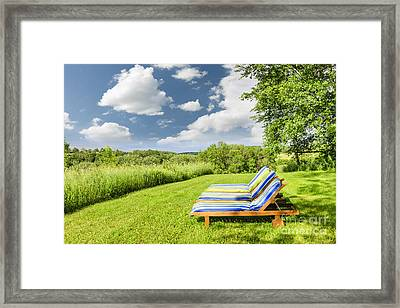 Summer Relaxing Framed Print by Elena Elisseeva