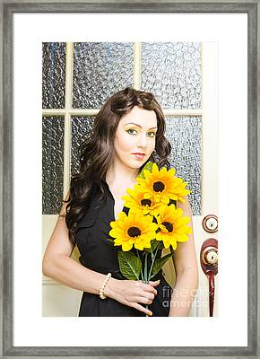 Sun Flower Framed Print by Jorgo Photography - Wall Art Gallery
