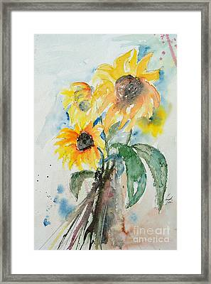 Sunflowers Framed Print by Ismeta Gruenwald