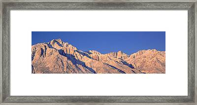 Sunrise At 14,494 Feet, Mount Whitney Framed Print by Panoramic Images