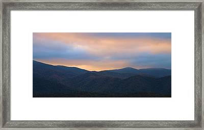 Sunrise Sky In Cades Cove Tennessee Framed Print by Dan Sproul