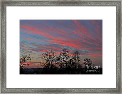 Framed Print featuring the photograph Sunrise by Jay Nodianos