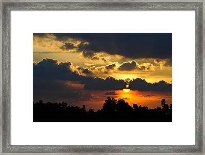 Sunset Framed Print by Izwan Amrul