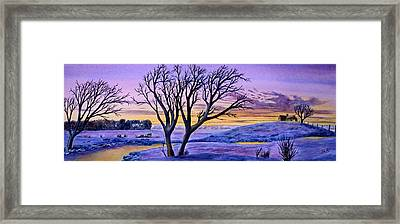 Sunset Sublime Framed Print