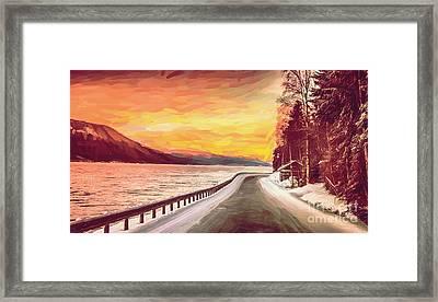Sunset Framed Print by Sylvia  Niklasson