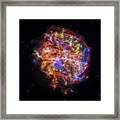 Supernova Remnant Framed Print by Nasa/cxc/sao
